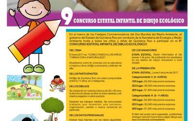 Invitan a participar en la convocatoria del Concurso Estatal Infantil de Dibujo Ecológico