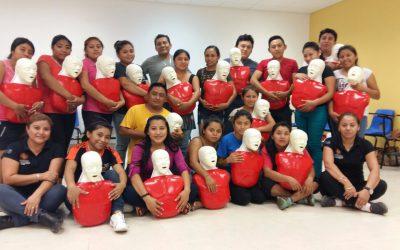 SESA fomenta la capacitación en primeros respondientes en la zona maya