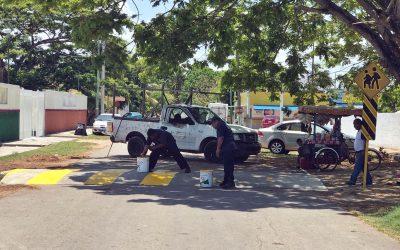 Mayor seguridad vial en escuelas con rehabilitación de cruces escolares