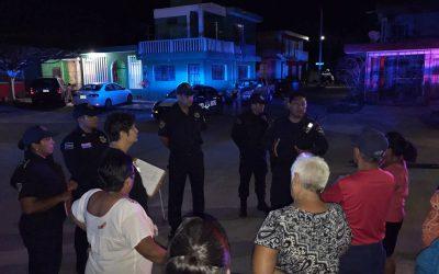 Trabajo coordinado y cercano con la gente para la prevención del delito
