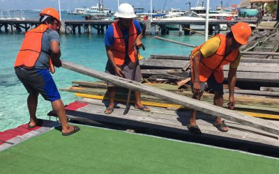 APIQROO rehabilita el muelle de madera de Isla Mujeres