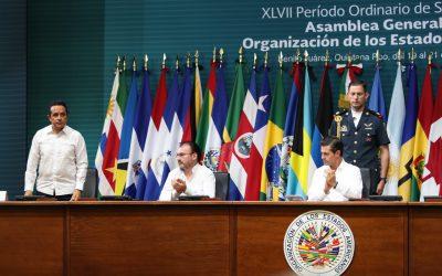 ((FOTOS)) Carlos Joaquín asiste a la ceremonia inaugural del XLVII Periodo Ordinario de Sesiones de la Asamblea General de la Organización de los Estados Americanos