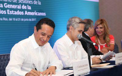 Quintana Roo se fortalece en materia turística con apoyo de la OEA: Carlos Joaquín