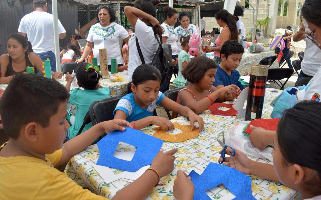 Fundación de Parques y Museos de Cozumel llevó una brigada de asistencia social a Las Fincas