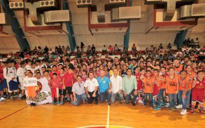 """Se inaugura el V Torneo Internacional de Basquetbol """"Copa Cancún 2017"""""""