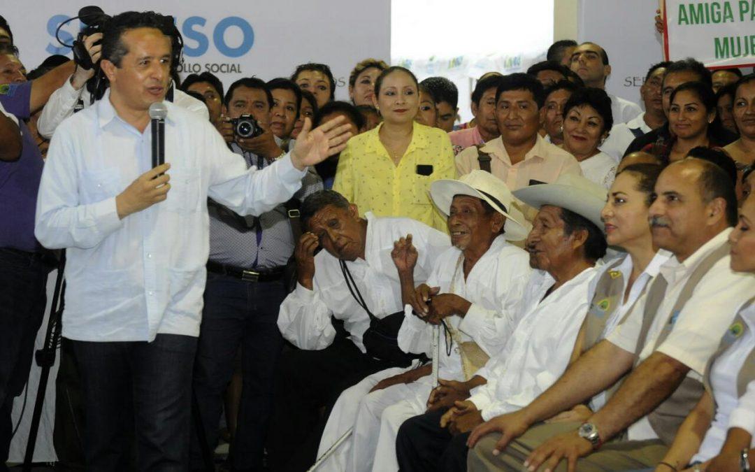 ((VIDEO)) Mensaje del Gobernador Carlos Joaquín durante la inauguración de la Caravanas Juntos: por Más y Mejores Oportunidades, realizada en la comunidad de Señor, del municipio de Felipe Carrillo Puerto