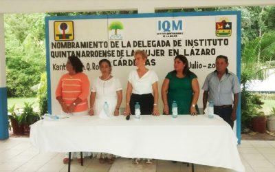 Designan a nueva delegada municipal del IQM en Lázaro Cárdenas