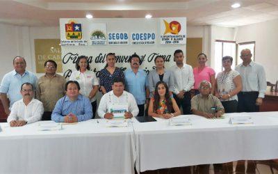 Quedan instalados los Consejos Municipales de Población (Comupo) en Quintana Roo