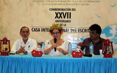 Finalizan festejos en de la Casa Internacional del Escritor