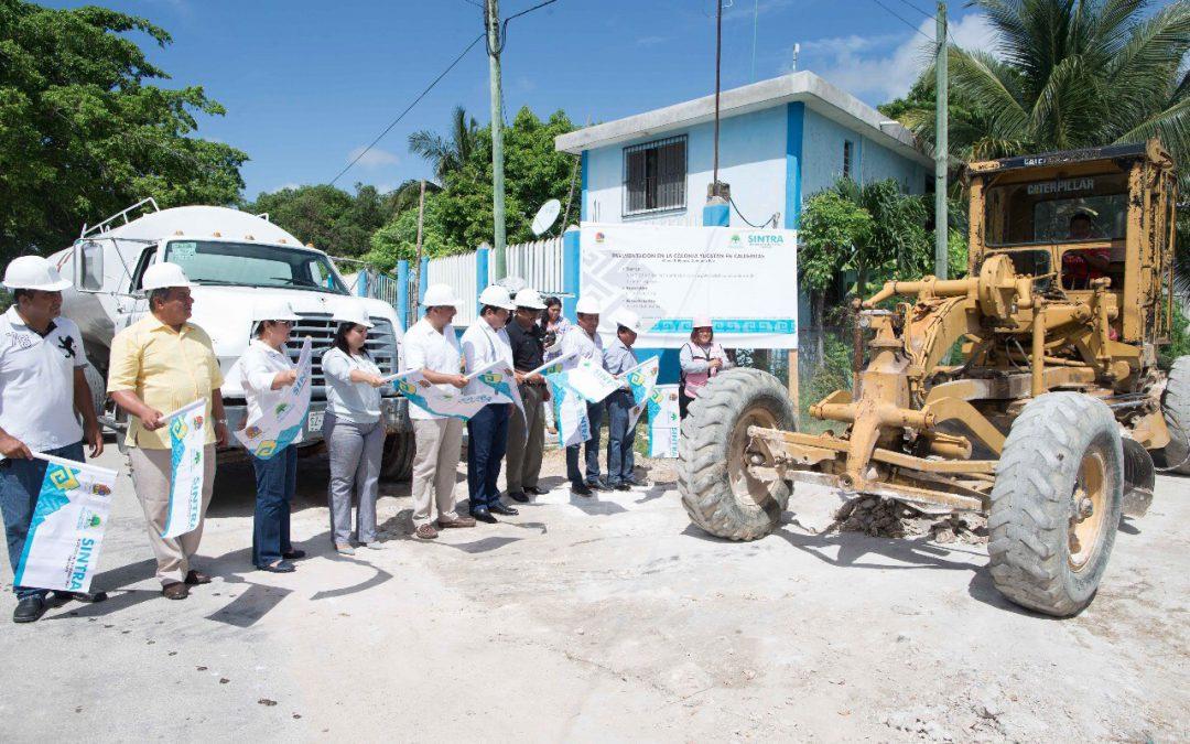 Más y mejores oportunidades para le gente con la rehabilitación de vialidades en la localidad de Calderitas: Sintra