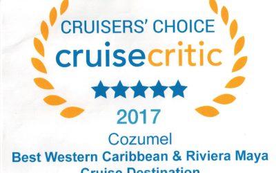 Cozumel, el puerto de cruceros número uno reconocimiento de Best Western Caribbean & Riviera Maya Cruise Destination