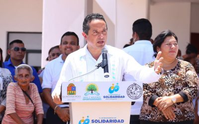 ((AUDIO)) Mensaje del gobernador Carlos Joaquín durante la entrega de parque vehicular del Ayuntamiento de Solidaridad