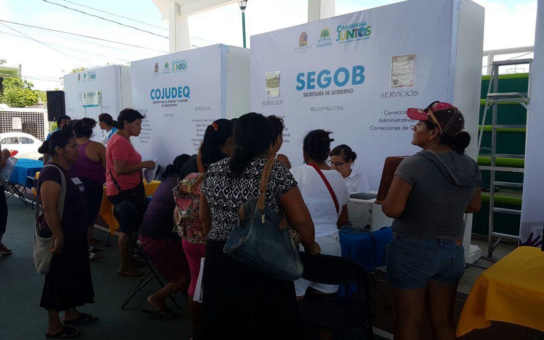 Ofrece SEGOB trámites gratuitos para la población en Caravana Juntos: Por más y mejores oportunidades