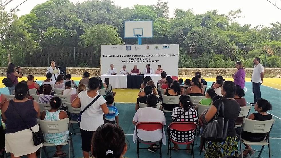 Organiza SESA la Feria de la Salud alusiva al Día Nacional de Lucha contra el Cáncer Cervicouterino