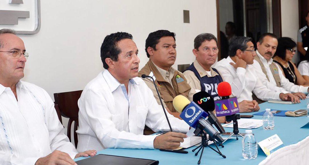 ((AUDIO)) Mensaje del Gobernador Carlos Joaquín  en la tercera sesión extraordinaria del Comité Especializado en Fenómenos Hidrometeorológicos