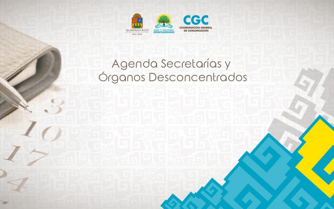 Agenda Pública de secretarías del Gobierno de Quintana Roo del 8 de Septiembre de 2017