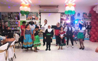 Celebrando el Mes Patrio con los alumnos y entrenadores del Centro Estatal Deportivo de Alto Rendimiento