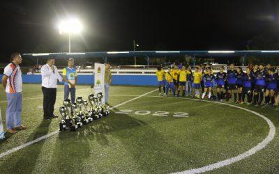 Se realiza la premiación de las ligas permanentes de futbol rápido en la Unidad Deportiva Romero Molina, en la capital del estado