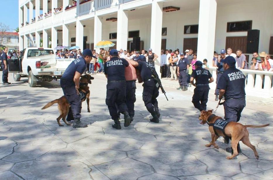 Agrupamiento Canino de la Policía Estatal Preventiva se especializará en Colombia