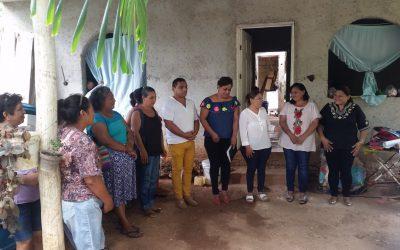 Imparten a madres de familia taller de bordado en Felipe Carrillo Puerto
