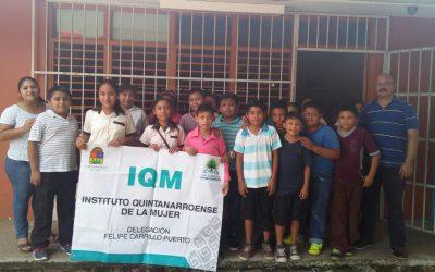Imparte IQM taller integral sobre bullying y cutting a mujeres, jóvenes y niñas en Felipe Carrillo Puerto
