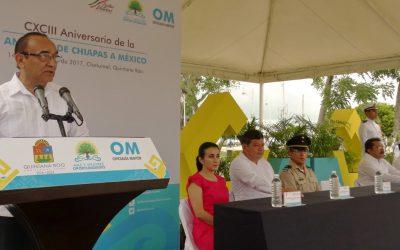 Se conmemoró el 193 aniversario de la Anexión de Chiapas a México