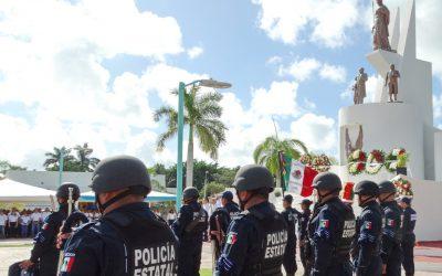 Se llevó a cabo la ofrenda floral al pie del Monumento a la Patria, a cargo de Delegaciones Federales