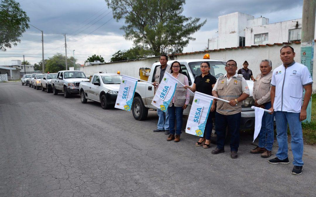 SESA pone en marcha el octavo ciclo de nebulización en 72 colonias de Chetumal