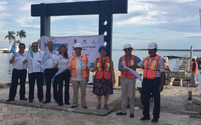 APIQROO inicia la reconstrucción del muelle de concreto del Club Náutico de Chetumal