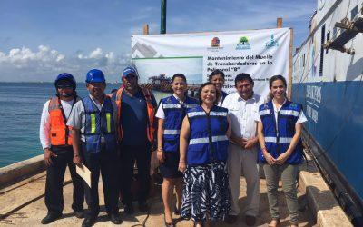 APIQROO inicia trabajos de mantenimiento en el muelle de transbordadores de Isla Mujeres