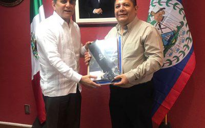 Recibe Jefe del Despacho al Embajador de Belice en México