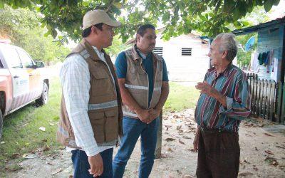 Baja nivel del Rio Hondo en la comunidad de La Unión: Coeproc