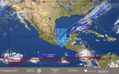 Frente Frio No. 6 afectará a Quintana Roo con descenso de la temperatura y lluvias: Coeproc
