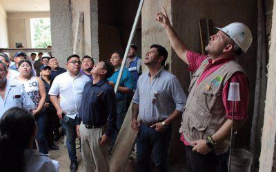 Personal de la SECOES inspecciona obras en Lázaro Cárdenas