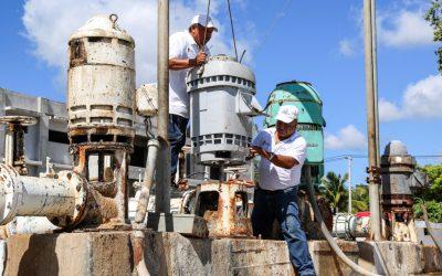 Personal de la CAPA resuelve incidencias en cárcamos de bombeo de Agua potable de Chetumal