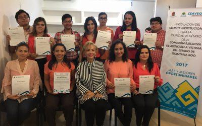 Se instalan el Comité Institucional para la Igualdad de Género y el Subcomité Interno contra Acoso y Hostigamiento Sexual para la Igualdad de Género de la CEAVEQROO