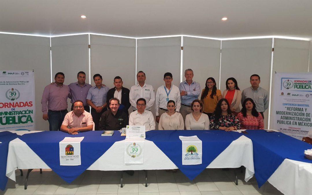 Dictan conferencia magistral sobre Reformas y Modernización de la Administración Pública en México