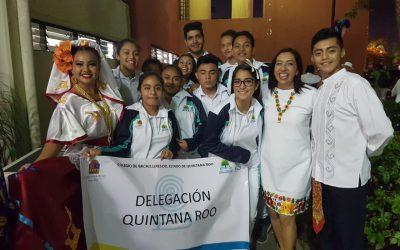 Delegación completa de Cobach a convivencia regional en Mérida