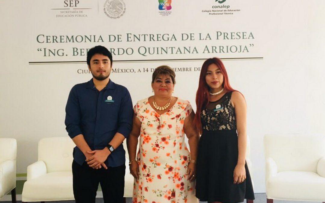 Por octava ocasión, alumnos CONALEP ganan la presea Ingeniero Bernardo Quintana Arrioja