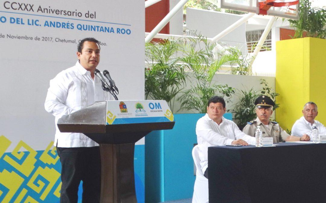 Conmemoran el 230 aniversario del natalicio de don Andrés Quintana Roo