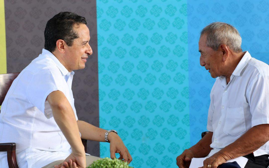 """((FOTOS)) Cara a cara, comunidades mayas y Carlos Joaquín en """"Platícale al gobernador"""""""