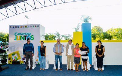 """Se realiza la séptima edición de la """"Caravana Juntos por más y Mejores Oportunidades"""" en Miguel Hidalgo, Bacalar"""