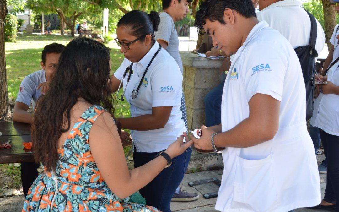 SESA ofrece en unidades médicas del primer nivel y ferias de la salud servicios gratuitos de detección de diabetes