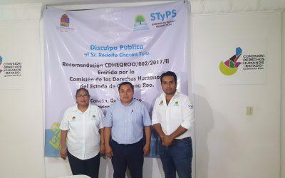 La STyPS cumple con la recomendación emitida por la Comisión Estatal de Derechos Humanos