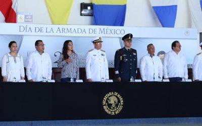 Celebran en Chetumal el 192 aniversario de la Armada de México