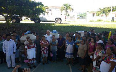 SEDARPE entrega 75 huertos integrales en el municipio de Bacalar