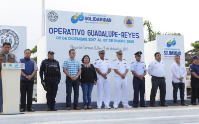 Con el operativo Guadalupe-Reyes se garantiza la seguridad de paseantes en Quintana Roo: COEPROC