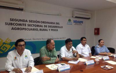 Presentan y aprueban proyectos 2017 en Sesión del Subcomité Sectorial de Desarrollo Agropecuario, Rural y Pesca