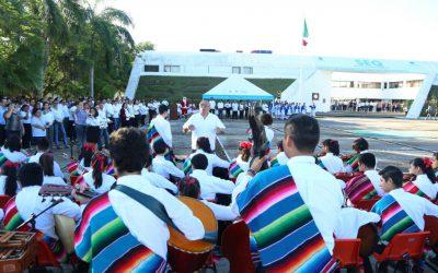 Recuerdan en ceremonia cívica la reintegración de Quintana Roo como territorio federal