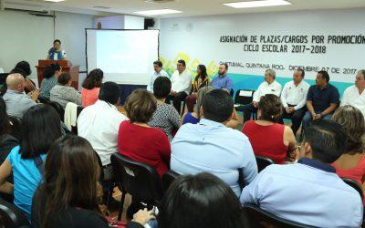 Asigna la SEQ 88 nuevos cargos de promoción en educación básica